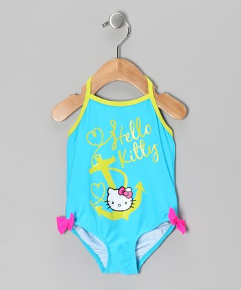 Aqua Blue Hello Kitty One-Piece - Infant