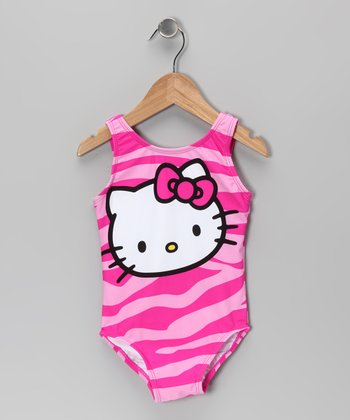 Pink Zebra Hello Kitty One-Piece - Infant