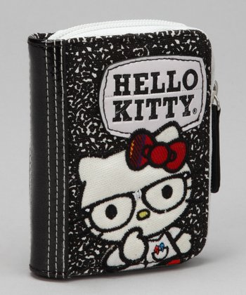 Black Hello Kitty Nerd Coin Purse