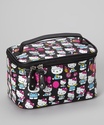 Black Hello Kitty Train Case