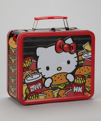 Red Hello Kitty Burger & Fries Lunch Box