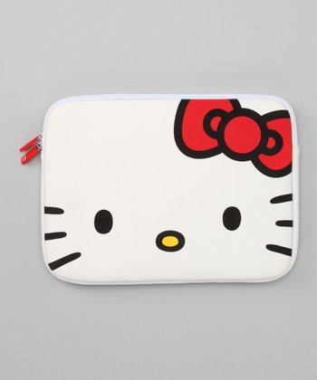 White Hello Kitty Laptop Case