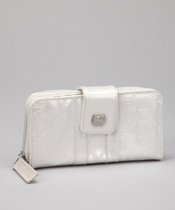 White Hello Kitty Ivory Embossed Wallet