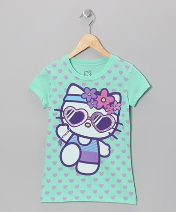 Mint Leaf Jog Hello Kitty Tee - Girls