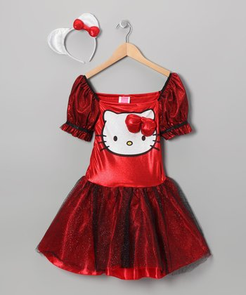 Red Sequin Hello Kitty Dress-Up Outfit - Girls
