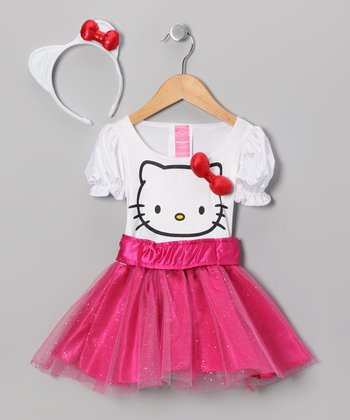 White & Pink Hello Kitty Dress-Up Outfit - Toddler