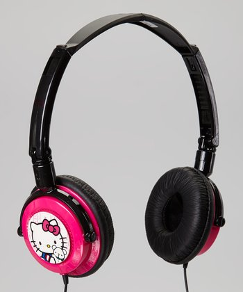 Pink Hello Kitty DJ Headphones