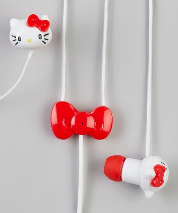 Red Hello Kitty Earbuds