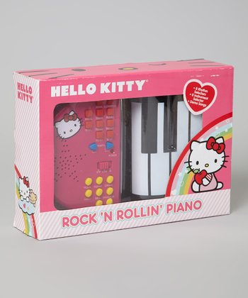 Black Hello Kitty Rock 'n' Rollin' Piano