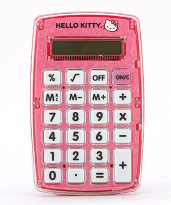 Pink Hello Kitty Calculator