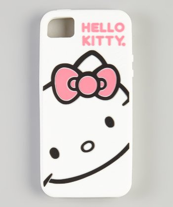 White Hello Kitty Texture Wave Case for iPhone 5