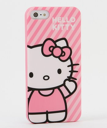 Hello Kitty Pink Stripe Case for iPhone 5