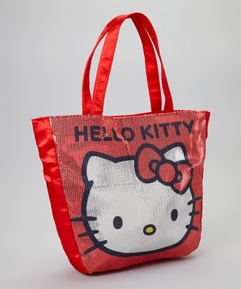 Hello Kitty Red Sequin Tote Bag