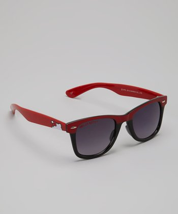 Red & Black Hello Kitty Retro Sunglasses