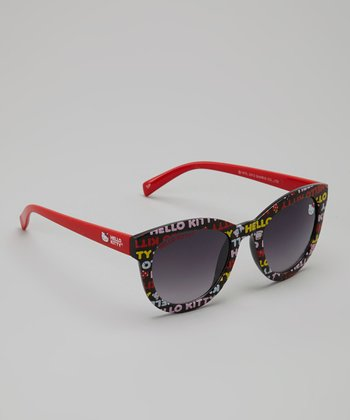 Red & Black Hello Kitty Sunglasses