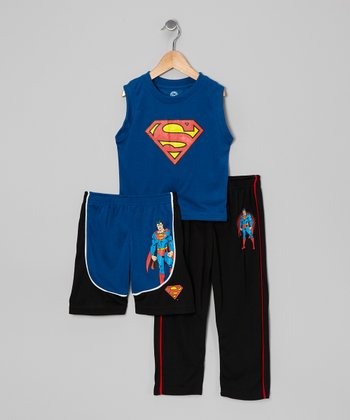 Blue Superman Pajama Set - Toddler