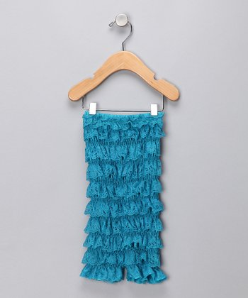 Turquoise Lace Strapless Romper - Infant & Toddler
