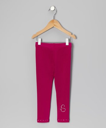 Berry Initial Leggings - Toddler & Girls