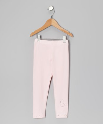Pink Initial Leggings - Infant, Toddler & Girls