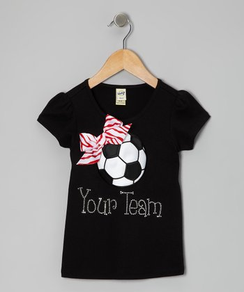 Black Personalized Soccer Tee - Infant, Toddler & Girls