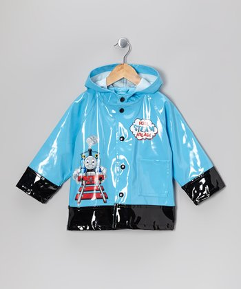 Blue & Black Thomas the Tank Engine Raincoat - Toddler & Kids