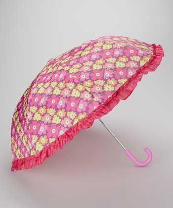 Pink Posie Patch Umbrella