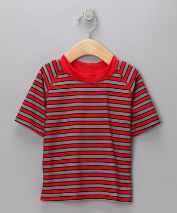 Red Stripe Rashguard - Infant & Toddler