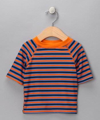 Orange & Blue Stripe Rashguard - Infant & Toddler