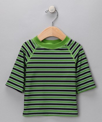 Green Stripe Rashguard - Infant