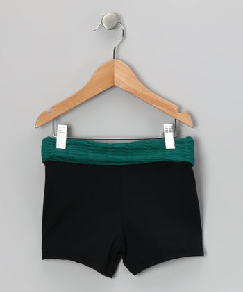 Jade Fold-Over Active Shorts - Girls