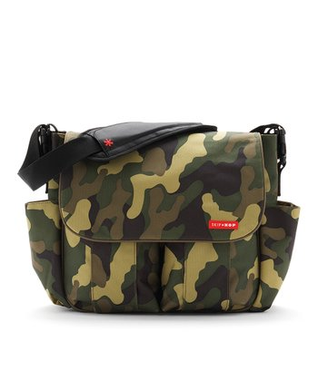 Green Camo Dash Diaper Bag