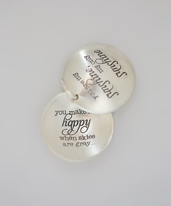 Five Little Birds Jewelry Sterling Silver 'You Are My Sunshine' Locket