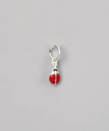 Red & Sterling Silver Tiny Ladybug Charm