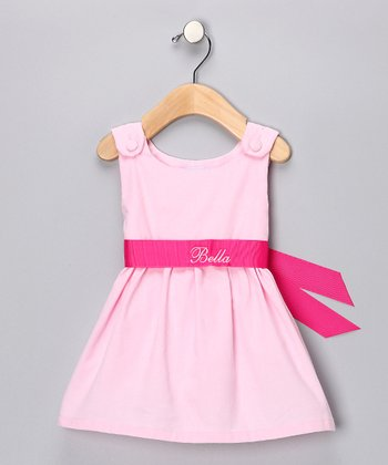Pink Personalized Sash Jumper - Infant, Toddler & Girls