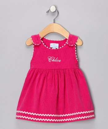 Hot Pink Corduroy Personalized Jumper - Infant, Toddler & Girls