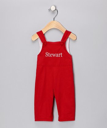 Red Personalized Overalls - Infant & Toddler