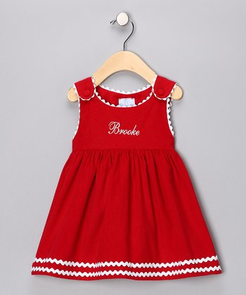 Red Corduroy Personalized Jumper - Infant, Toddler & Girls