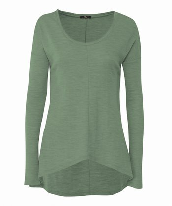 Hedge Green Toora Merino Wool Top - Women