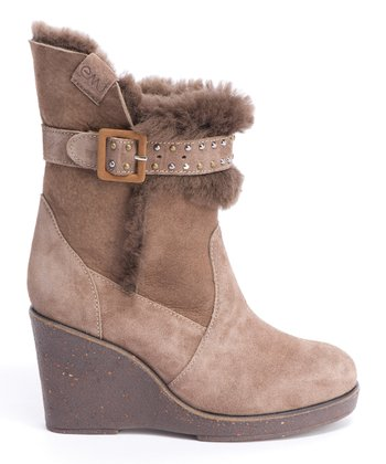 Mustard Heighton Wedge Boot - Women