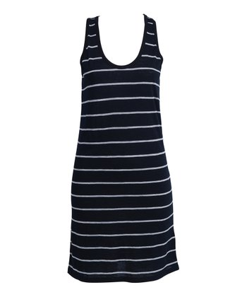 Black & Gray Stripe Culburra Dress - Women