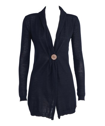Black Venus Bay Merino Wool Cardigan - Women