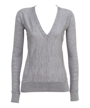 Gray Melba Gully Merino Wool Sweater - Women