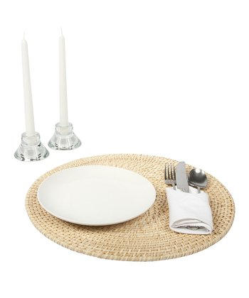 Natural Rattan & Bamboo Place Mat - Set of Four