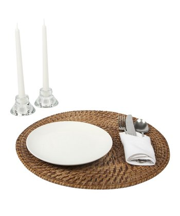 Mocha Rattan & Bamboo Place Mat - Set of Four
