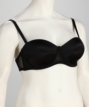 Black Shiny Convertible Bra - Women