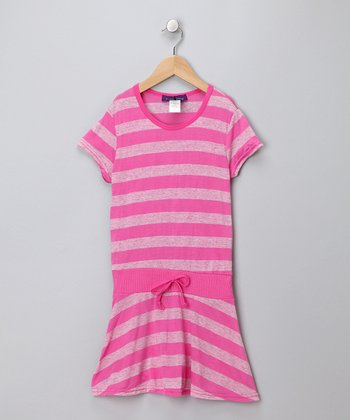 Pink Stripe Drop-Waist Tunic