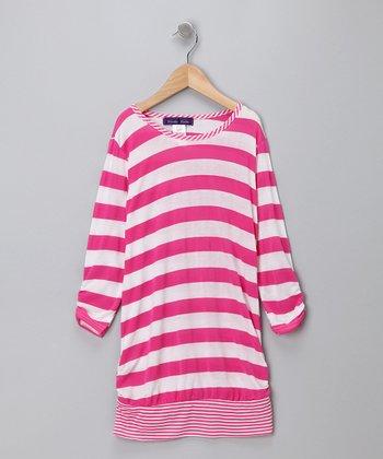 Purple Pixies Pink Stripe Tunic