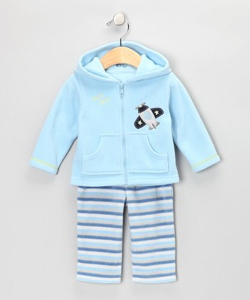Blue Zip-Up Hoodie & Pants - Infant