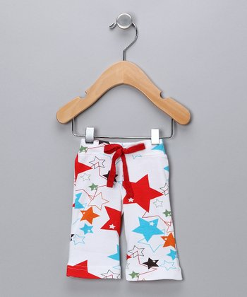 Red & White Star Pants - Infant