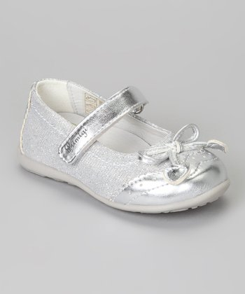 White Ezia Metallic Mary Jane
